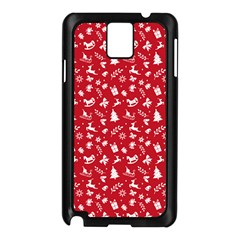 Red Christmas Pattern Samsung Galaxy Note 3 N9005 Case (black) by patternstudio