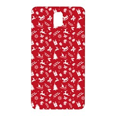 Red Christmas Pattern Samsung Galaxy Note 3 N9005 Hardshell Back Case by patternstudio