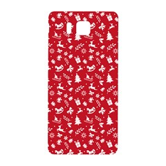 Red Christmas Pattern Samsung Galaxy Alpha Hardshell Back Case by patternstudio