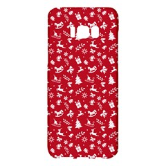 Red Christmas Pattern Samsung Galaxy S8 Plus Hardshell Case  by patternstudio