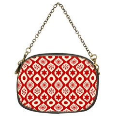 Ornate Christmas Decor Pattern Chain Purses (two Sides)  by patternstudio