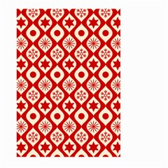 Ornate Christmas Decor Pattern Large Garden Flag (two Sides) by patternstudio
