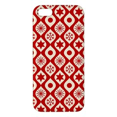 Ornate Christmas Decor Pattern Apple Iphone 5 Premium Hardshell Case by patternstudio