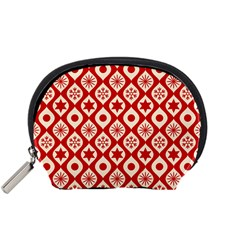 Ornate Christmas Decor Pattern Accessory Pouches (small)  by patternstudio