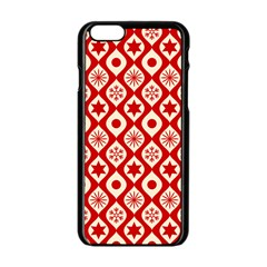 Ornate Christmas Decor Pattern Apple Iphone 6/6s Black Enamel Case by patternstudio