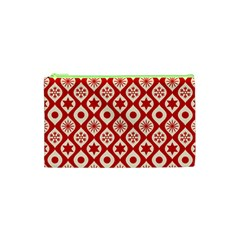 Ornate Christmas Decor Pattern Cosmetic Bag (xs) by patternstudio