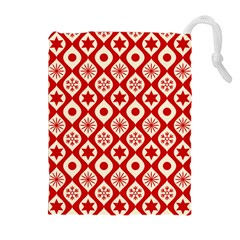 Ornate Christmas Decor Pattern Drawstring Pouches (extra Large) by patternstudio