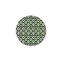Green Ornate Christmas Pattern Golf Ball Marker (10 Pack) by patternstudio