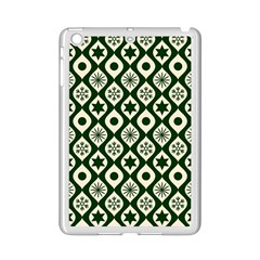Green Ornate Christmas Pattern Ipad Mini 2 Enamel Coated Cases by patternstudio