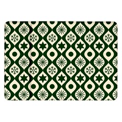 Green Ornate Christmas Pattern Samsung Galaxy Tab 8 9  P7300 Flip Case by patternstudio