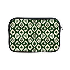 Green Ornate Christmas Pattern Apple Ipad Mini Zipper Cases by patternstudio