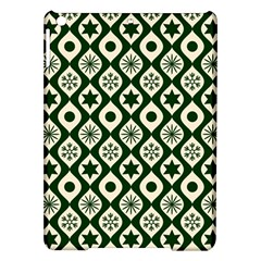 Green Ornate Christmas Pattern Ipad Air Hardshell Cases by patternstudio