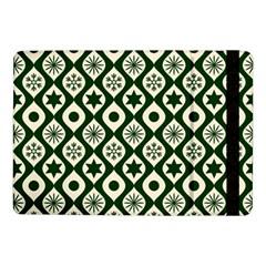 Green Ornate Christmas Pattern Samsung Galaxy Tab Pro 10 1  Flip Case by patternstudio