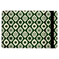 Green Ornate Christmas Pattern Ipad Air Flip by patternstudio