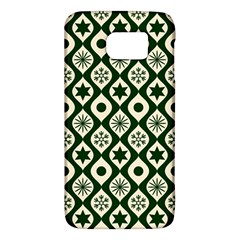 Green Ornate Christmas Pattern Galaxy S6 by patternstudio