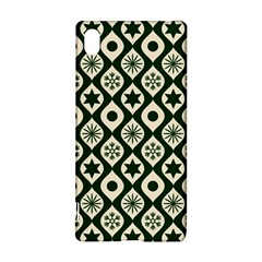 Green Ornate Christmas Pattern Sony Xperia Z3+ by patternstudio