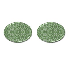 Art Pattern Design Holiday Color Cufflinks (oval) by Celenk