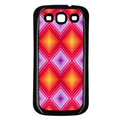 Texture Surface Orange Pink Samsung Galaxy S3 Back Case (black) by Celenk