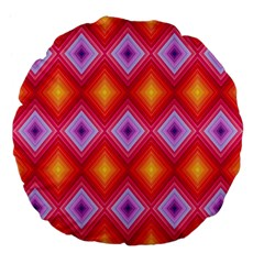 Texture Surface Orange Pink Large 18  Premium Flano Round Cushions by Celenk