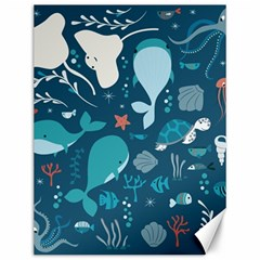 Cool Sea Life Pattern Canvas 12  X 16   by allthingseveryday