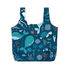 Cool Sea Life Pattern Full Print Recycle Bags (m)  by allthingseveryday