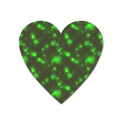 Neon Green Bubble Hearts Heart Magnet by PodArtist