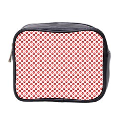 Sexy Red And White Polka Dot Mini Toiletries Bag 2 Side by PodArtist