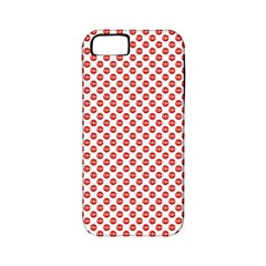Sexy Red And White Polka Dot Apple Iphone 5 Classic Hardshell Case (pc+silicone) by PodArtist