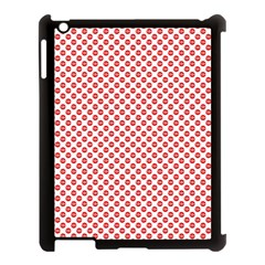 Sexy Red And White Polka Dot Apple Ipad 3/4 Case (black) by PodArtist