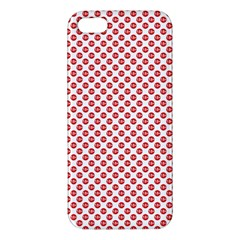 Sexy Red And White Polka Dot Iphone 5s/ Se Premium Hardshell Case by PodArtist
