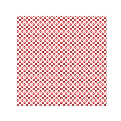 Sexy Red And White Polka Dot Small Satin Scarf (square) by PodArtist