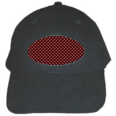 Sexy Red And Black Polka Dot Black Cap by PodArtist