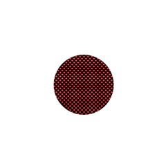 Sexy Red And Black Polka Dot 1  Mini Buttons by PodArtist