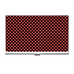 Sexy Red And Black Polka Dot Business Card Holders by PodArtist