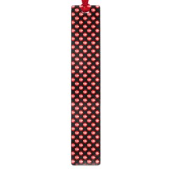 Sexy Red And Black Polka Dot Large Book Marks by PodArtist