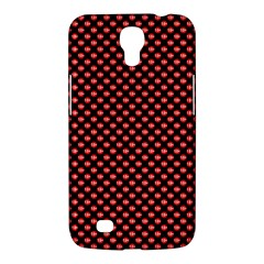 Sexy Red And Black Polka Dot Samsung Galaxy Mega 6 3  I9200 Hardshell Case by PodArtist