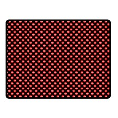 Sexy Red And Black Polka Dot Double Sided Fleece Blanket (small)  by PodArtist