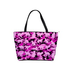 Hot Pink Catmouflage Camouflage Shoulder Handbags by PodArtist