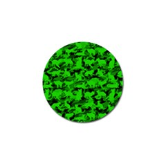 Bright Neon Green Catmouflage Golf Ball Marker (10 Pack) by PodArtist