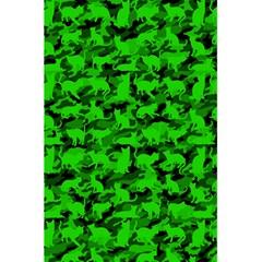Bright Neon Green Catmouflage 5 5  X 8 5  Notebooks by PodArtist