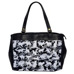 Black And White Catmouflage Camouflage Office Handbags by PodArtist