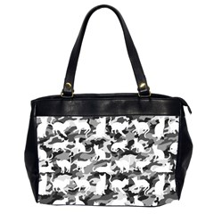 Black And White Catmouflage Camouflage Office Handbags (2 Sides)  by PodArtist