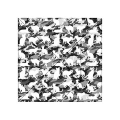 Black And White Catmouflage Camouflage Acrylic Tangram Puzzle (4  X 4 ) by PodArtist