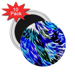 Abstract Background Blue White 2 25  Magnets (10 Pack)  by Celenk