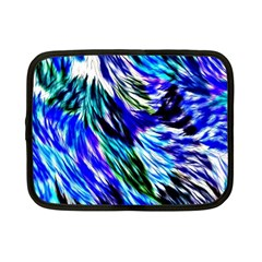 Abstract Background Blue White Netbook Case (small)  by Celenk