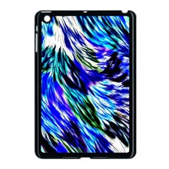 Abstract Background Blue White Apple Ipad Mini Case (black) by Celenk