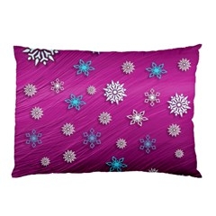 Snowflakes 3d Random Overlay Pillow Case by Celenk