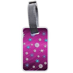 Snowflakes 3d Random Overlay Luggage Tags (one Side)  by Celenk