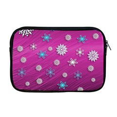 Snowflakes 3d Random Overlay Apple Macbook Pro 17  Zipper Case by Celenk