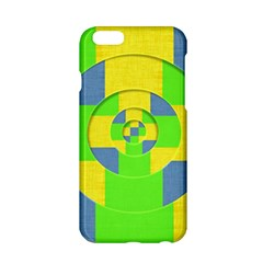 Fabric 3d Geometric Circles Lime Apple Iphone 6/6s Hardshell Case by Celenk